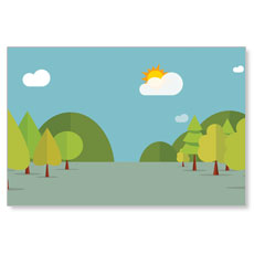 Woodland Friends Wall Scene Banner