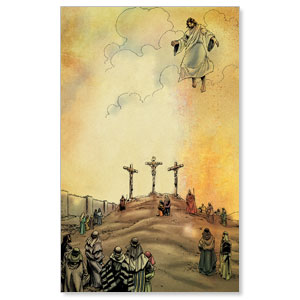 The Action Bible Crucifixion Ascension Banners