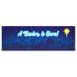 Children's Nativity Skyline Banners