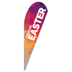 Geometric Bold Easter Teardrop Flag Banners