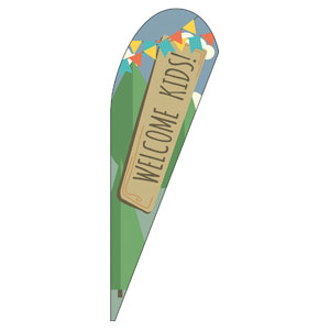 Woodland Friends Welcome Teardrop Flag Banners
