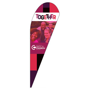 BTCS Together Teardrop Flag Banners