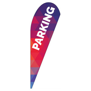 Geometric Bold Parking Teardrop Flag Banners