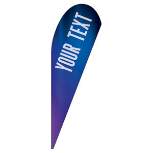 Aurora Lights Your Text Here Teardrop Flag Banners