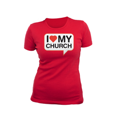 I Love My Church Women's T-Shirt T-Shirt