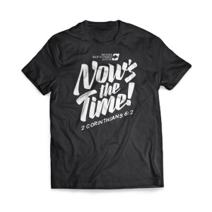Back to Church Sunday: Nows the Time - Large Customized T-shirts