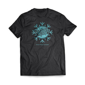 Winter Camp Snowflake - Large Customized T-shirts