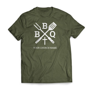 BBQ Cross - Large Customized T-shirts