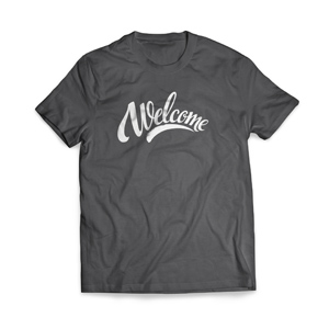 Welcome Cursive - Large Customized T-shirts