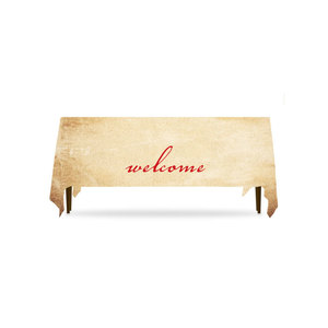 Red Script Welcome Table Throws