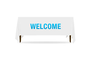 Block Letter Welcome Table Throws