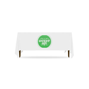 Guest Circles Info Green 6'  Table Throws