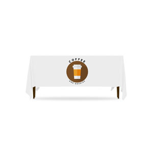 Burlap Coffee 6'  Table Throws