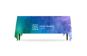 Celebrate Watercolor Logo Table Throws