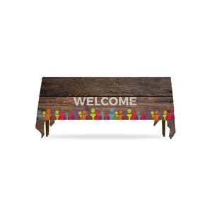 Shiplap Welcome Natural Table Throws