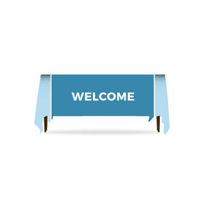 Mid Century Welcome Table Throws