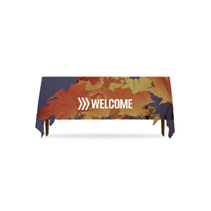 Chevron Welcome Fall Table Throws