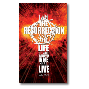 I am the Resurrection 3 x 5 Vinyl Banner