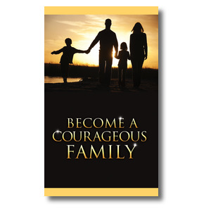 Courageous Family 3 x 5 Vinyl Banner