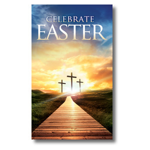 Easter Crosses Path 3 x 5 Vinyl Banner