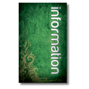Adornment Information 3 x 5 Vinyl Banner