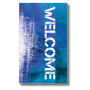Atomic Welcome 3 x 5 Vinyl Banner