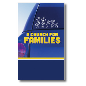Church for Families  3 x 5 Vinyl Banner