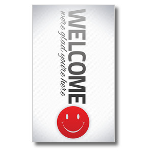 Pin Stripe Welcome 3 x 5 Vinyl Banner