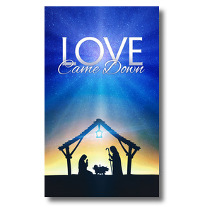 Love Came Down 3 x 5 Vinyl Banner