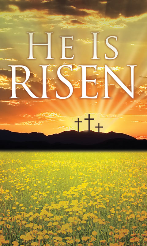 He is Risen Triptych M Banner - Church Banners - Outreach ...