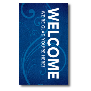 Flourish Welcome 3 x 5 Vinyl Banner