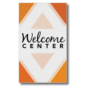Welcome Diamond Orange 3 x 5 Vinyl Banner