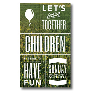 Phrases Children 3 x 5 Vinyl Banner