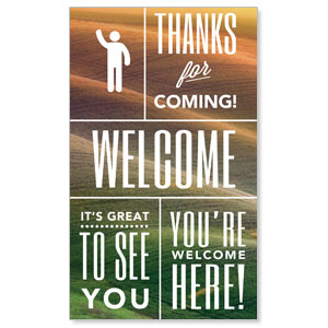 Phrases Welcome  3 x 5 Vinyl Banner