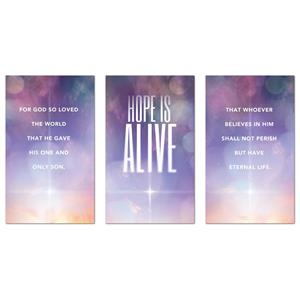Hope Is Alive Triptych Banners