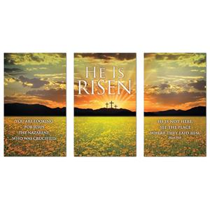 He is Risen Triptych  Banners