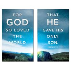 For God So Loved Pair Banner