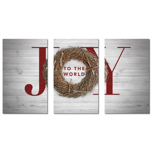 Joy Twig Wreath 3 x 5 Vinyl Banner