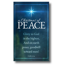 Christmas of Peace Luke 2:14 Banner