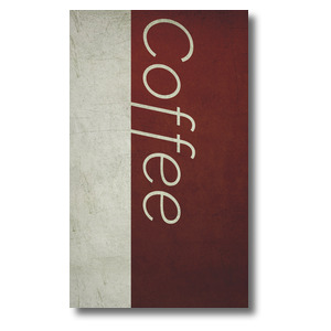 Color Block Coffee 3 x 5 Vinyl Banner