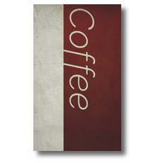 Color Block Coffee Banner