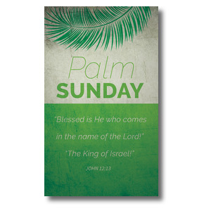Color Block Palm Sunday 3 x 5 Vinyl Banner