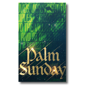 Palm Sunday Green Donkey 3 x 5 Vinyl Banner