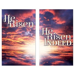 Risen Indeed Pair Banners