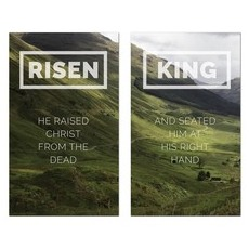 Risen King Hillside Pair Banner
