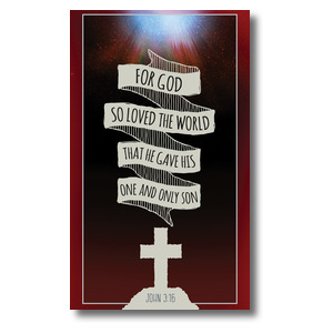 Hand Drawn Ribbon Good Friday 3 x 5 Vinyl Banner