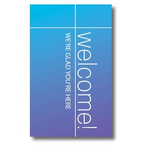 Color Wash Welcome 3 x 5 Vinyl Banner