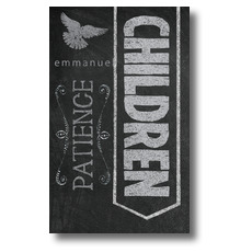Chalkboard Art Children Banner