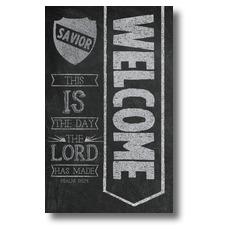 Chalkboard Art Welcome Banner
