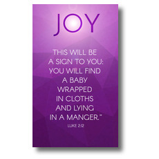 Advent Luke 2 Joy Banner